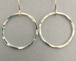 Round Hammered Ring Earrings