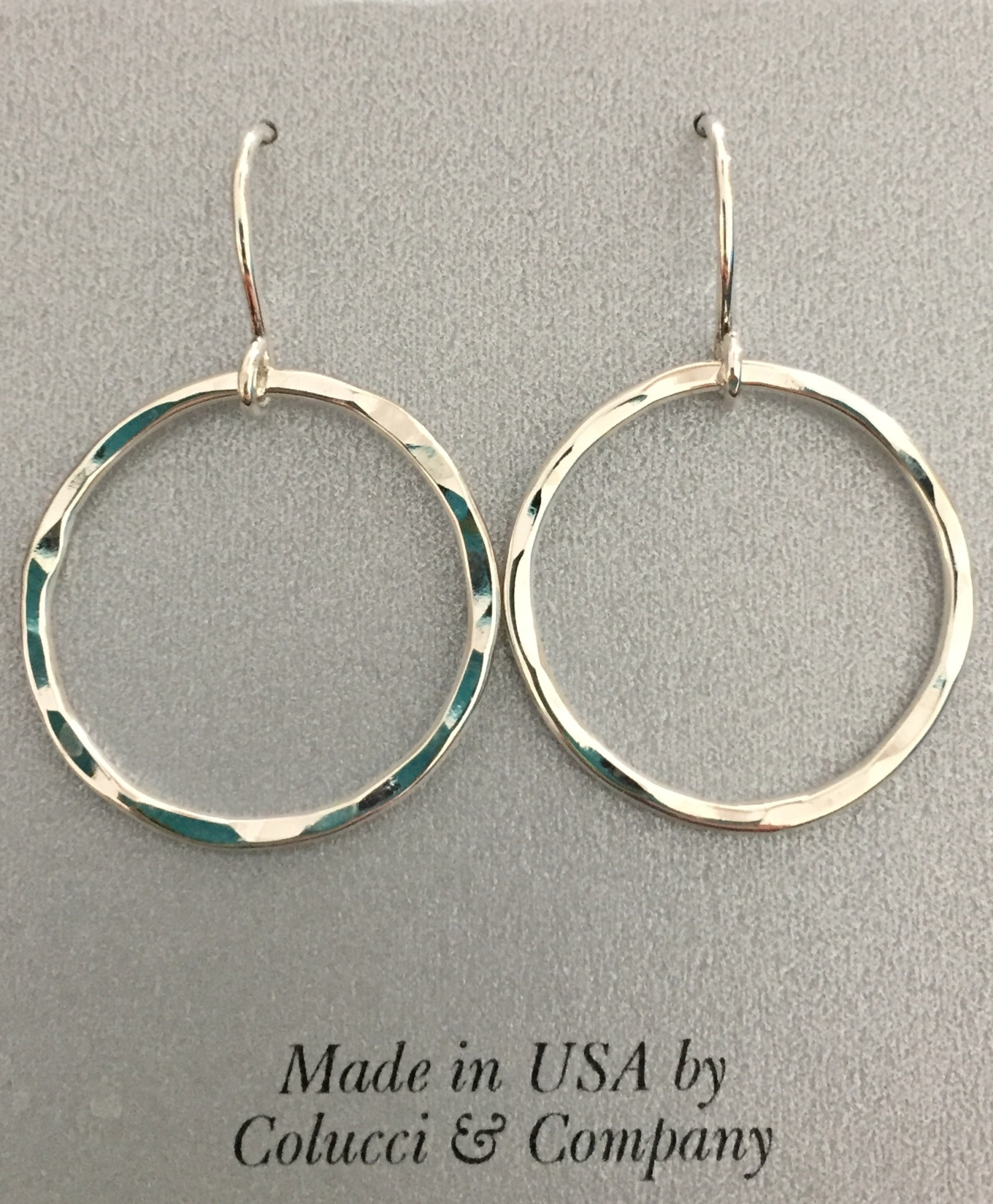 Sterling Silver Textured Round Earrings