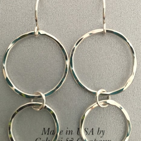 Textured Double Round Earrings